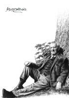 J.R.R. Tolkien under a Tree by JoelPoischen
