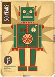 Retro Robot Faktum Poster