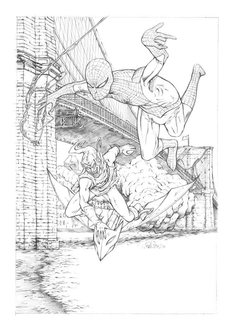 Bridge Over Troubled Spidey by JoelPoischen