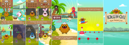 Krunchi - Your Favorite Pet - iOS mobile game by JoelPoischen