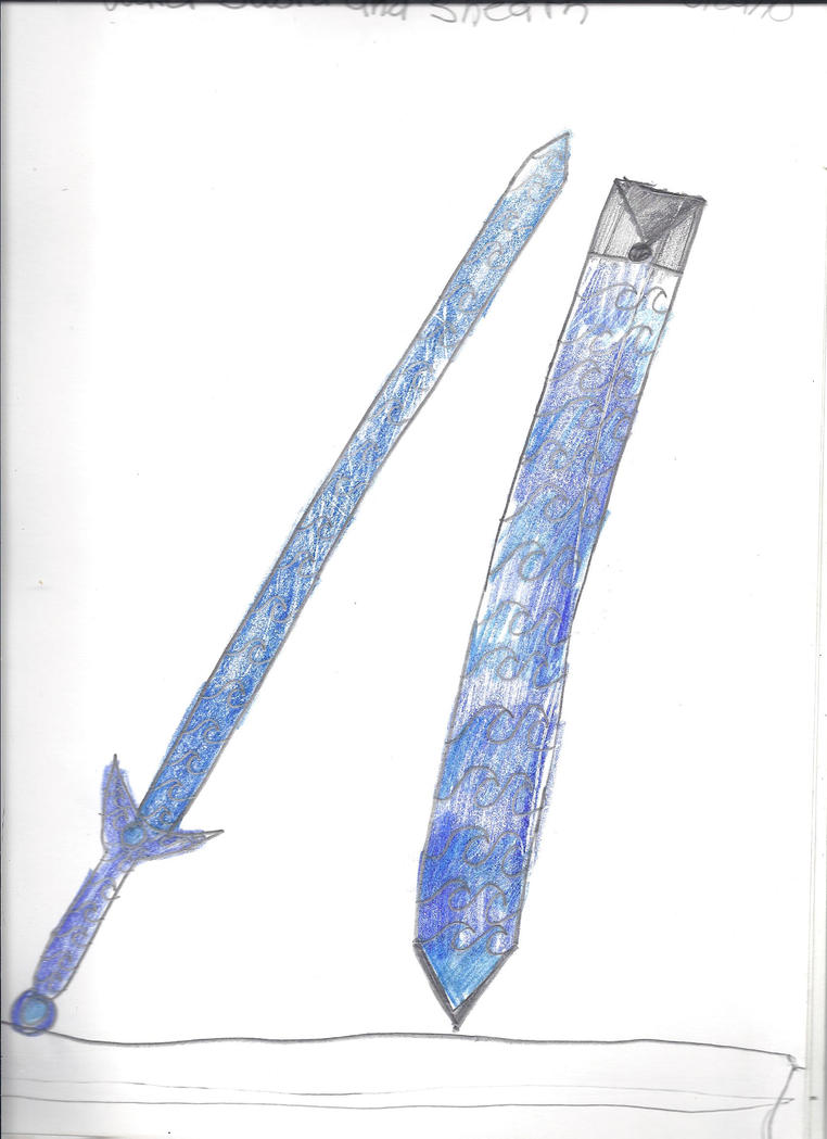 Water Sword and Sheath by AshKetchum998Sword Of Water