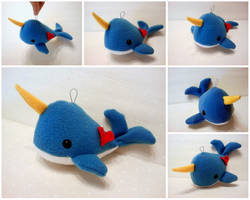 Baby Blue Hanging Narwhal by Jonisey