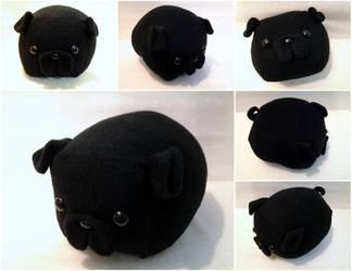 Black Pug Loaf by Jonisey