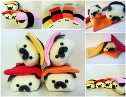 Mini Sushi Pugs by Jonisey