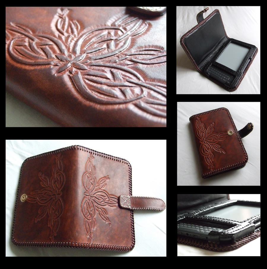 Leather Kindle Case by TheGoddess908