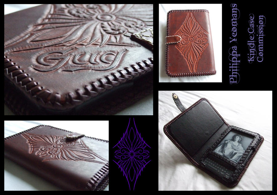 Leather Kindle Case Commission by TheGoddess908