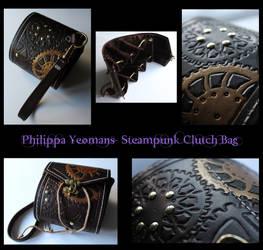 Leather Steampunk Clutch Handbag