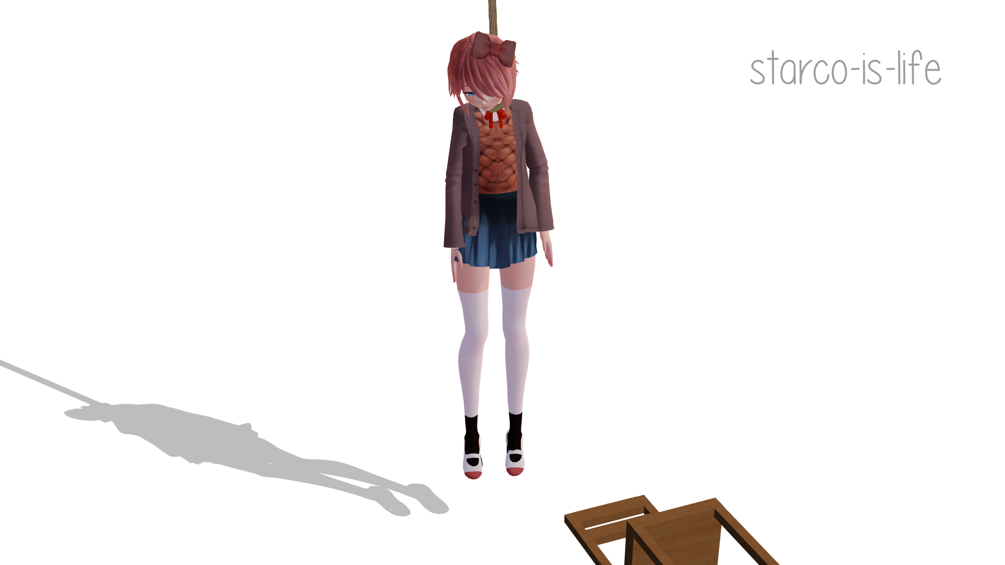 Mmd Sayori Hanging By Starco Is Life On Deviantart
