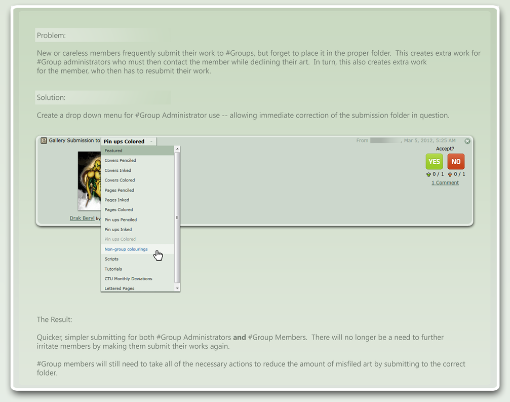 New Folder Drop-Down by GreenAsDay