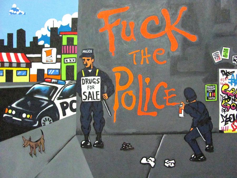 Fuck la police autocollant ftp