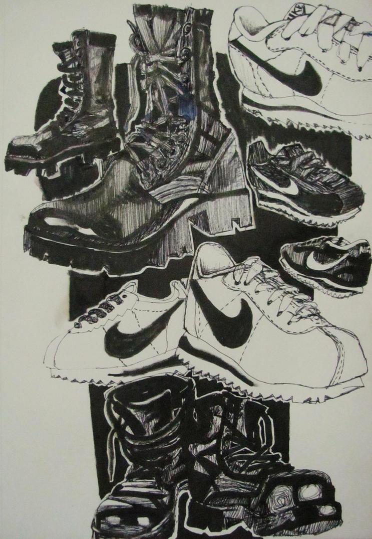 Boots and Nike Cortez by GerardoGomez