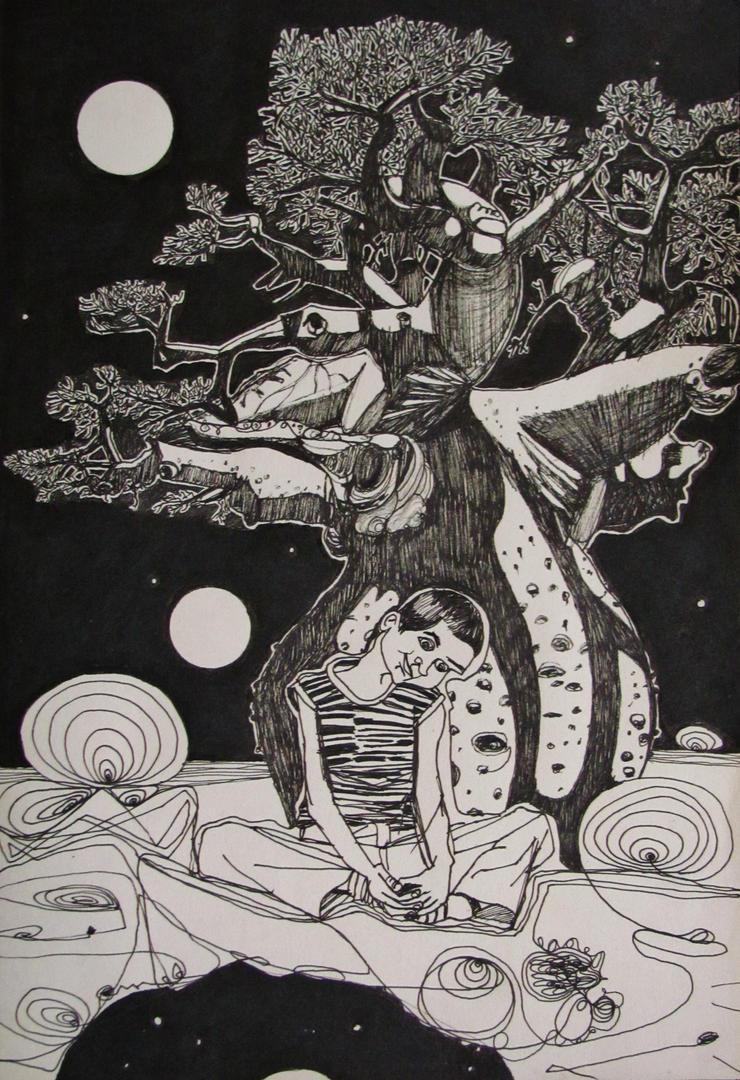 Petit Prince sliding through the galaxy by GerardoGomez