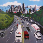 Highway and buildings