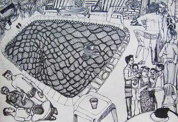 Conversations around the pool by GerardoGomez