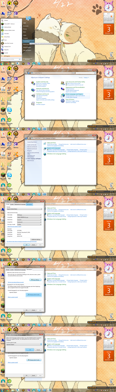 How to change secondary language on Win7 by xXHIMRXx