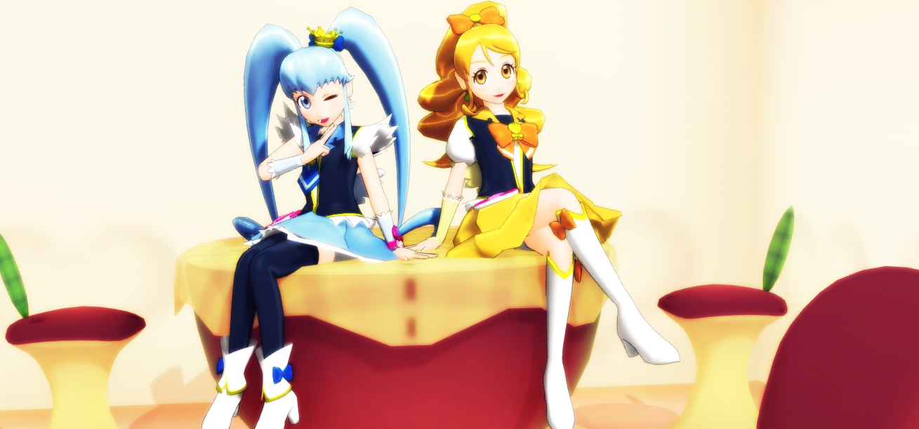 _MMD_ Princess and Honey by xXHIMRXx