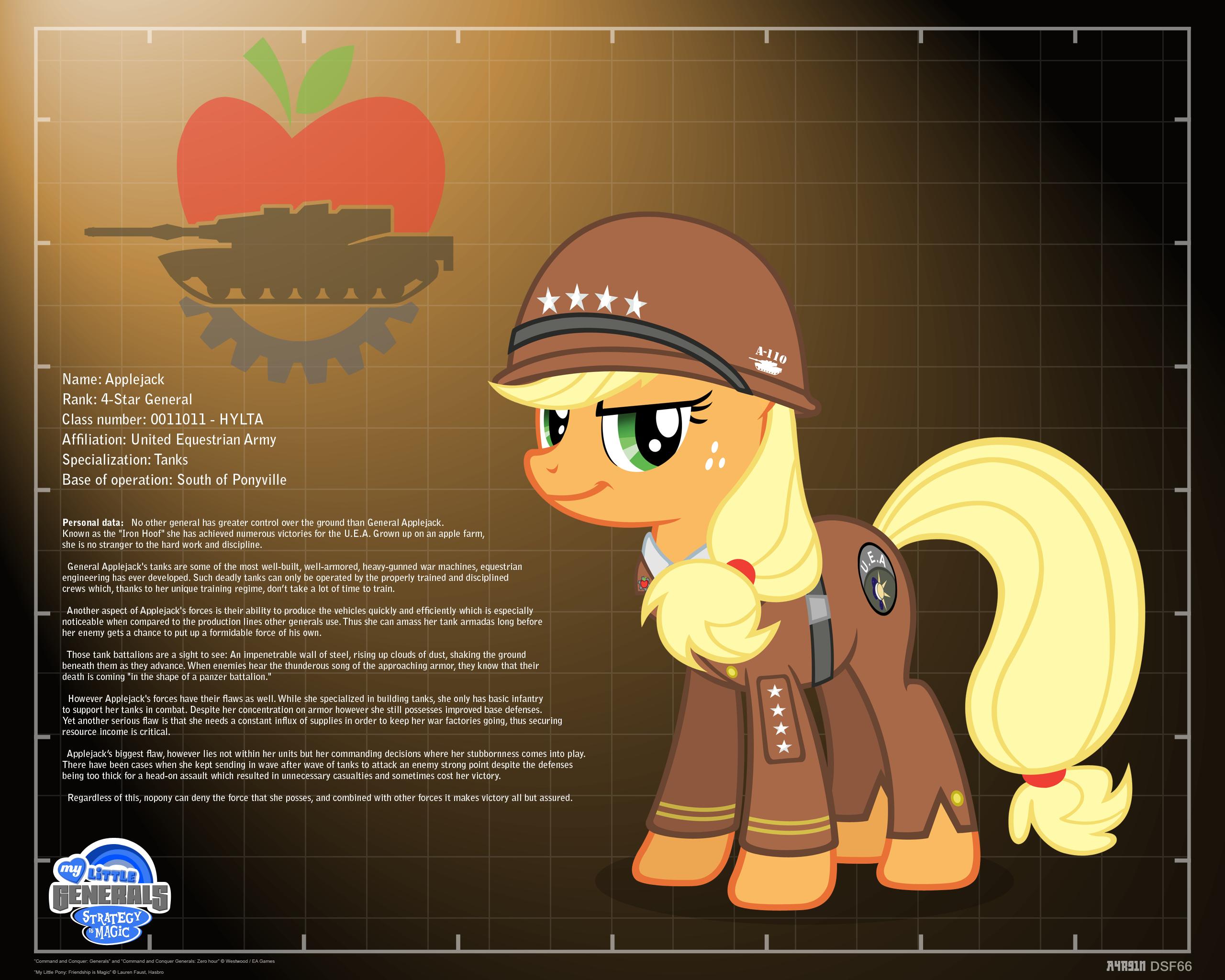 General Applejack - profile info by A4R91N
