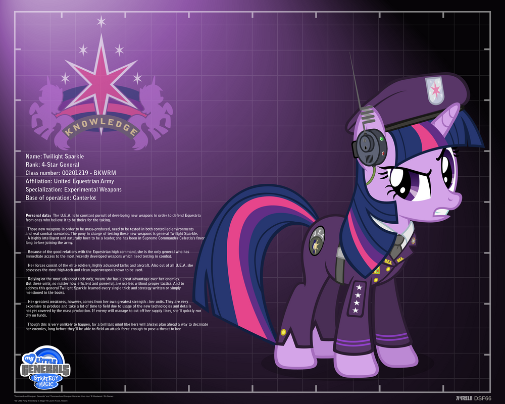General Twilight Sparkle - profile info by A4R91N