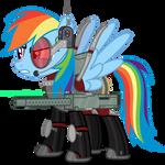 Rainbow pegasus armor MkII