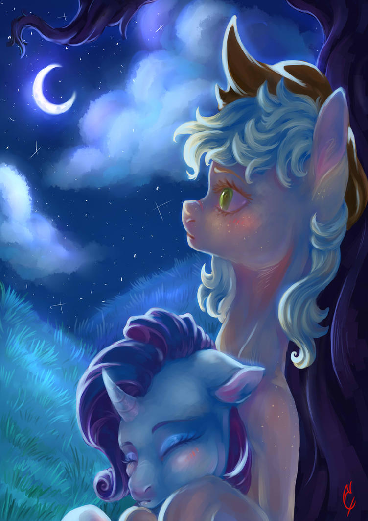 Paper moon by CoconutHound