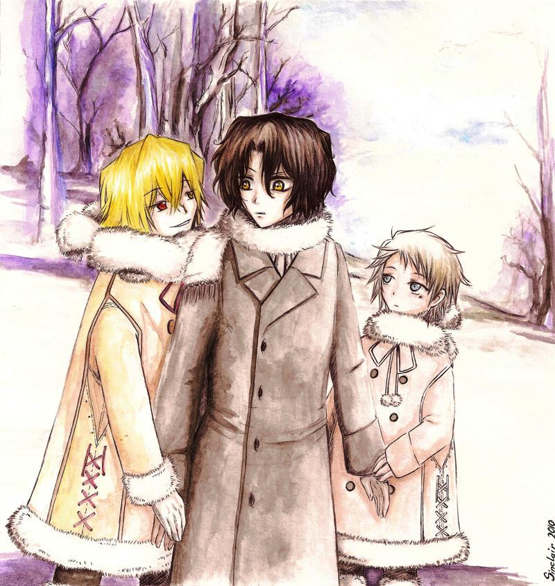 Vos plus belles images de Pandora Hearts - Page 10 Nightray_Brothers__Winter_Walk_by_Ren_Sinclair
