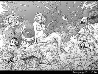 Mermaid black by pennyang