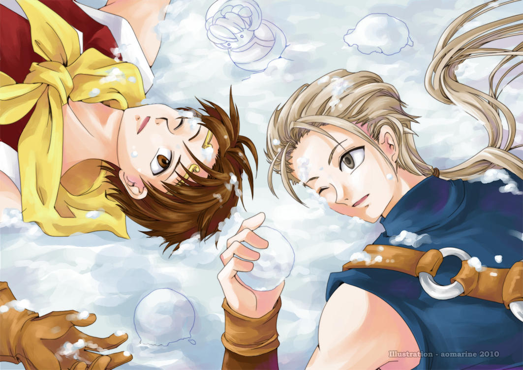 Suikoden II - Snowfight by aomarine