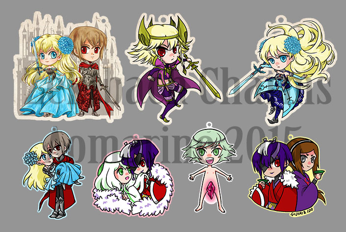 Zektbach Charms - Set 3 by aomarine