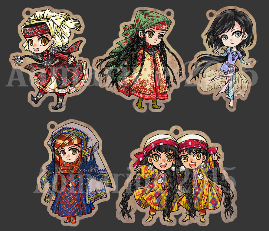 Otoyome Charms by aomarine