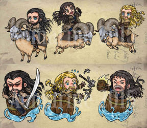 The Hobbit Charms by aomarine