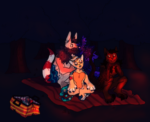 Watching the fireworks - Prompt