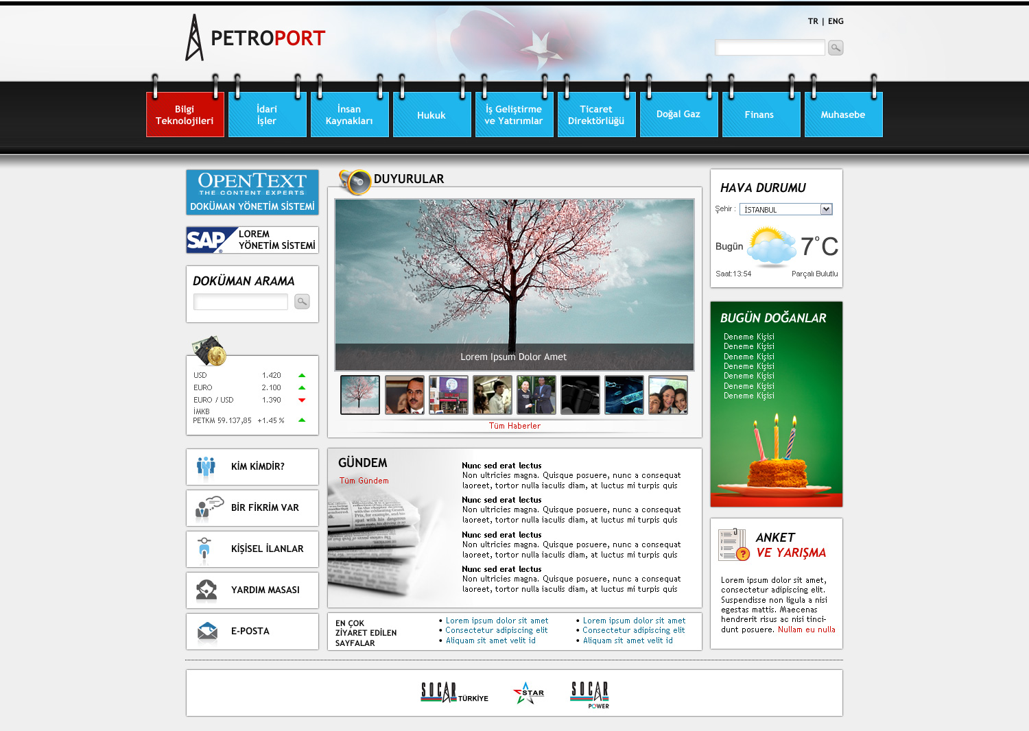 Sharepoint intranet portal by blackiron on deviantart for Intranet portal design templates