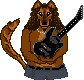 Kirk Wolf with Guitar by Kirk-Hammett