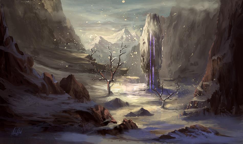 Mountain Obelisk by Nele-Diel