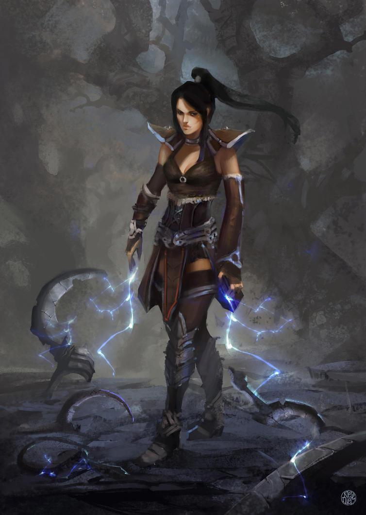 Malthael's Weapons by Nele-Diel