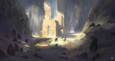 Mountain Temple by Nele-Diel