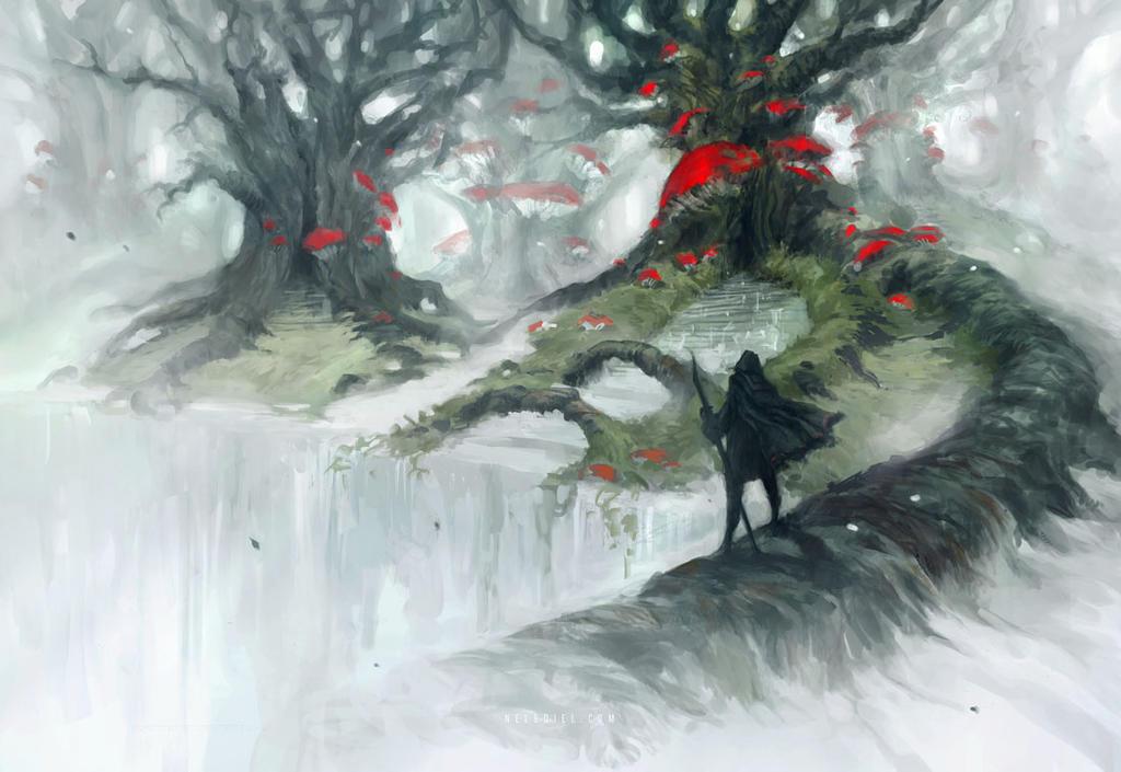 Mushroom Forest by Nele-Diel