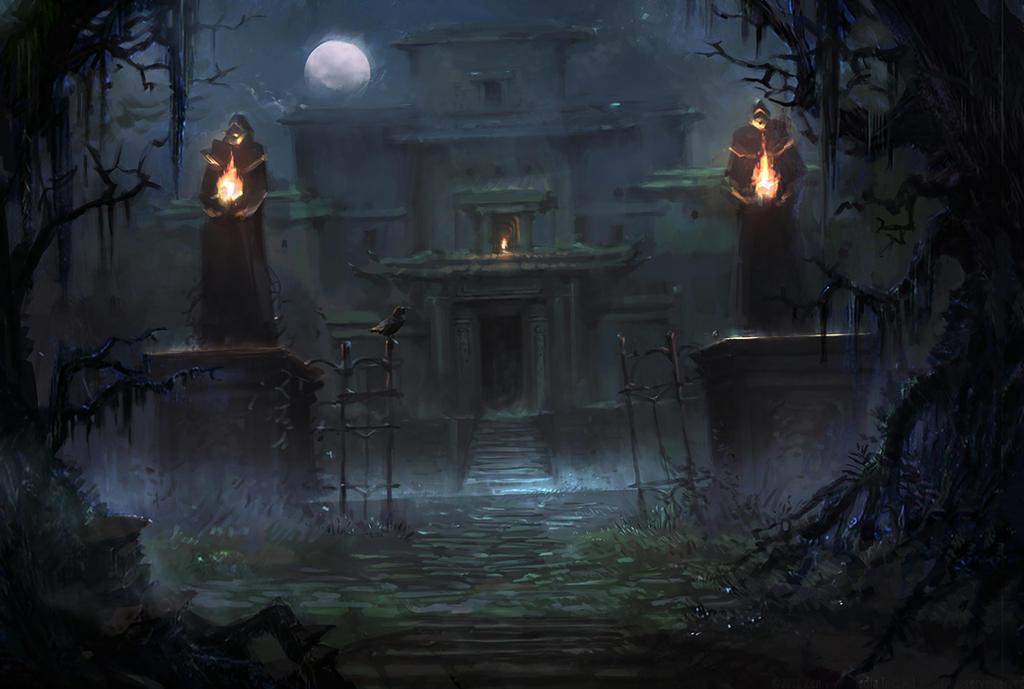 Creepy Mansion By Nele Diel On DeviantArt