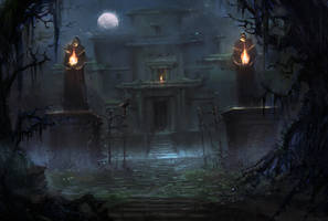 Creepy Mansion by Nele-Diel