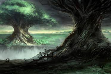 Two Giant Trees by Nele-Diel