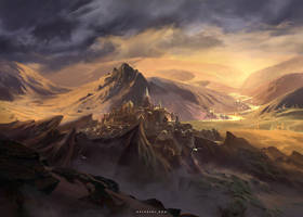 City at Dawn by Nele-Diel