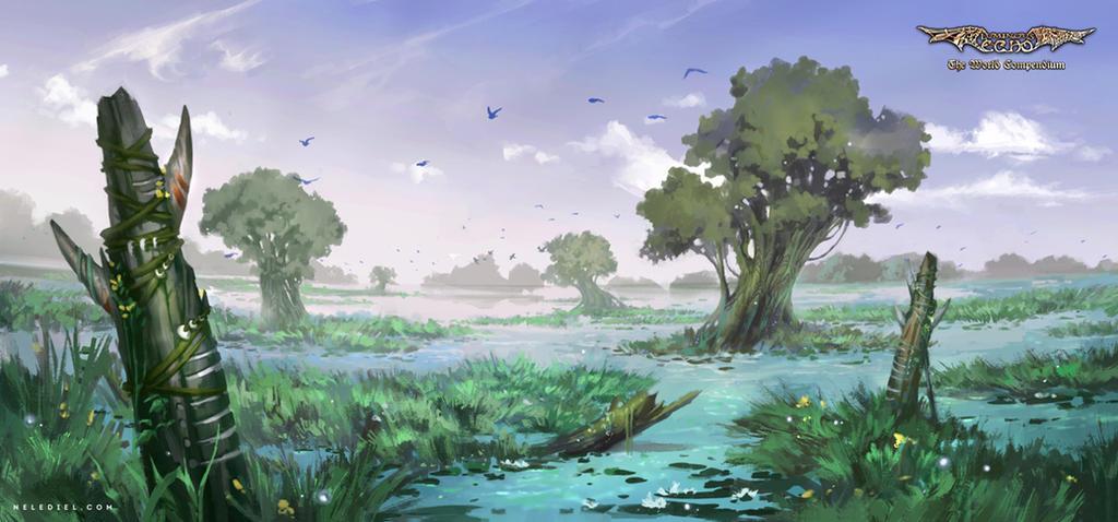Peaceful Swamp by Nele-Diel