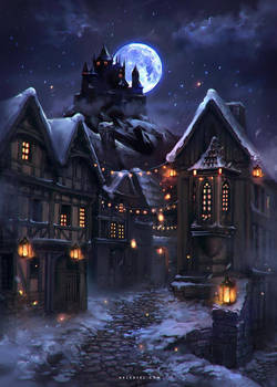 Lights in a Winter Night