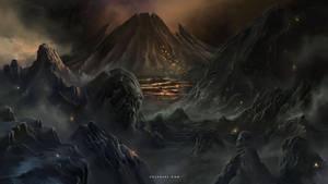 Volcanic Lands by Nele-Diel