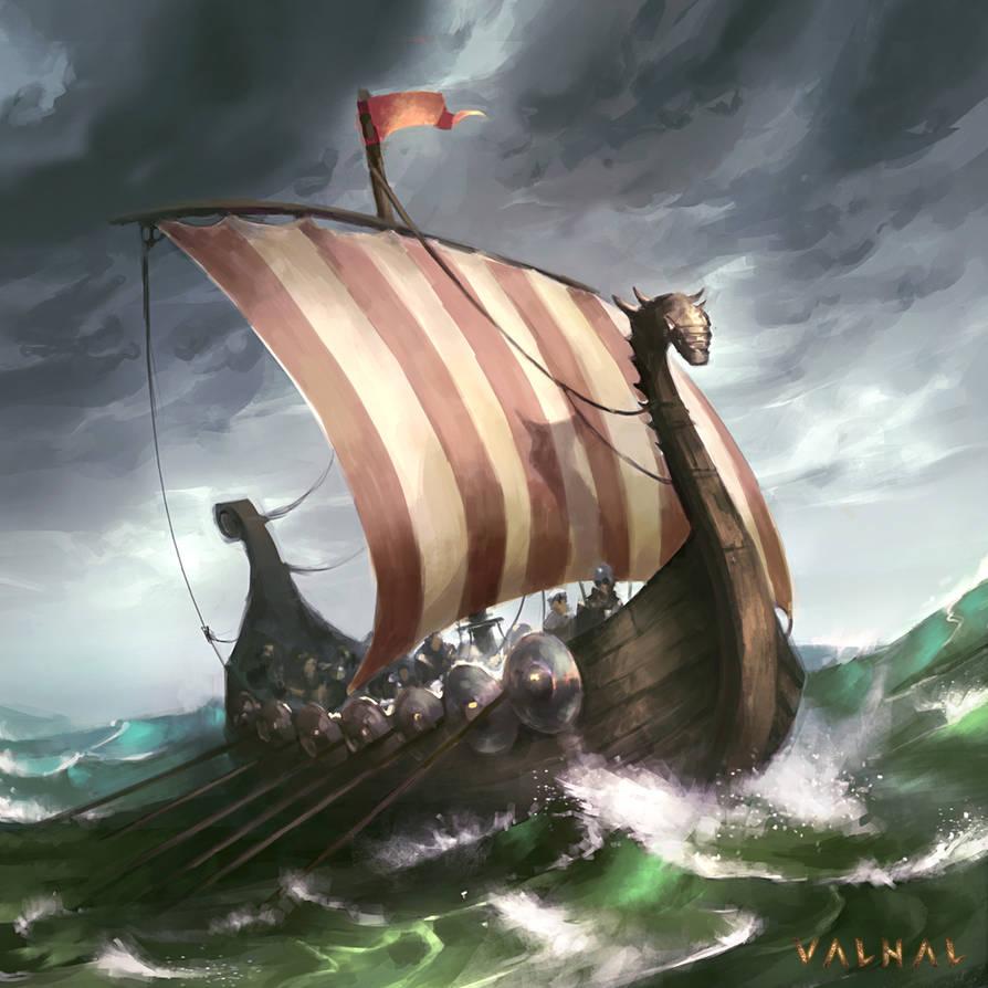 Viking Ship by Nele-Diel