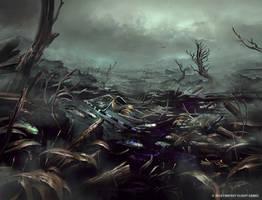 Flooded Battleground by Nele-Diel