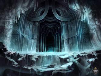 Entrance in the Ice by Nele-Diel