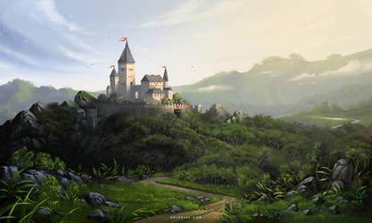Castle in Morning Light by Nele-Diel