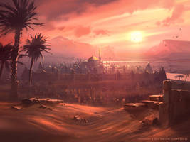 Desert Sunset by Nele-Diel