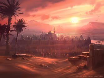 Desert Sunset by Nele-Diel